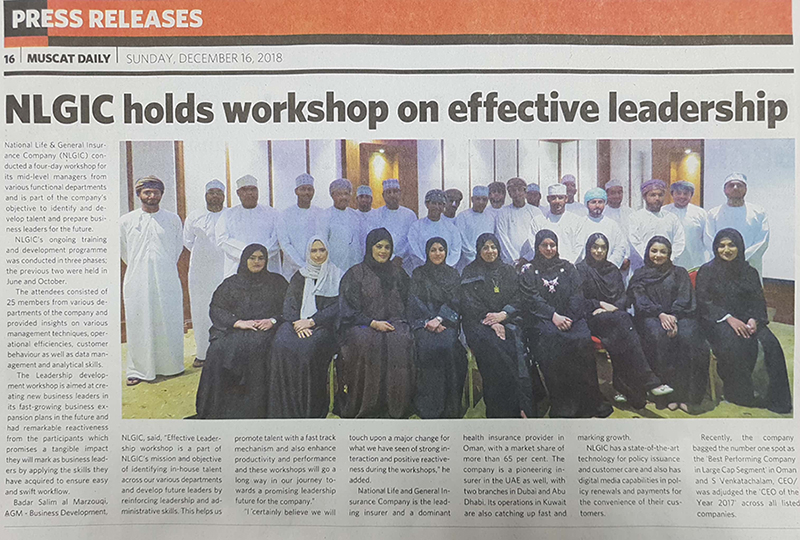 NLGIC Conducts workshop on effective leadership 16 Dec 2018 3