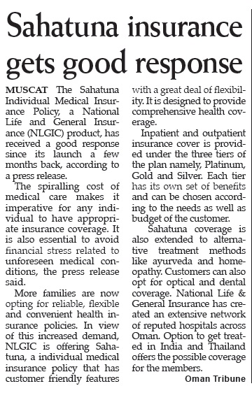 Sahatuna Insurance gets good response. 8 Jul 2014 1