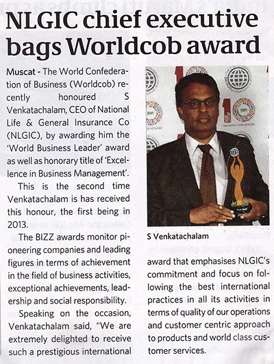 NLGIC Chief Executive bags Worldcob award. 28 Oct 2015 1